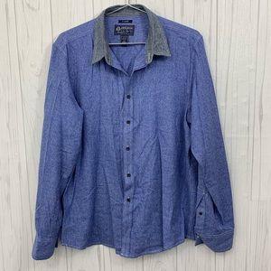 🍍 3/$15 AMERICAN RAG MENS BLUE & GRAY SOFT XL